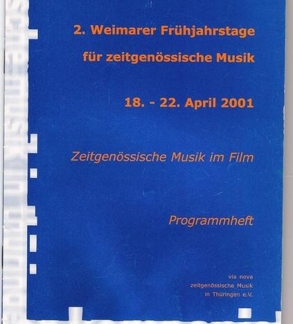 Weimarer Frühjahrstage für zeitgenössische Musik