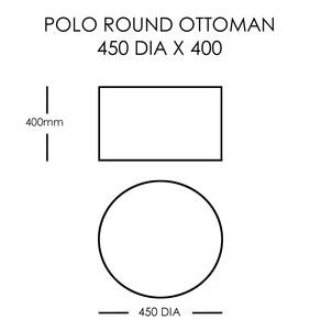 POLO ROUND OTTOMAN