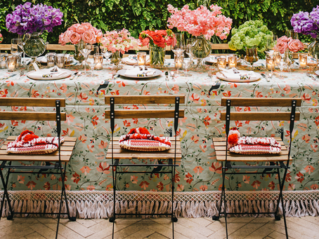 A TABLE DRESSED FOR THE OCASSION