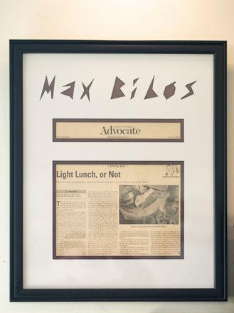 Max Bibo's Newspaper Article in the Advocate
