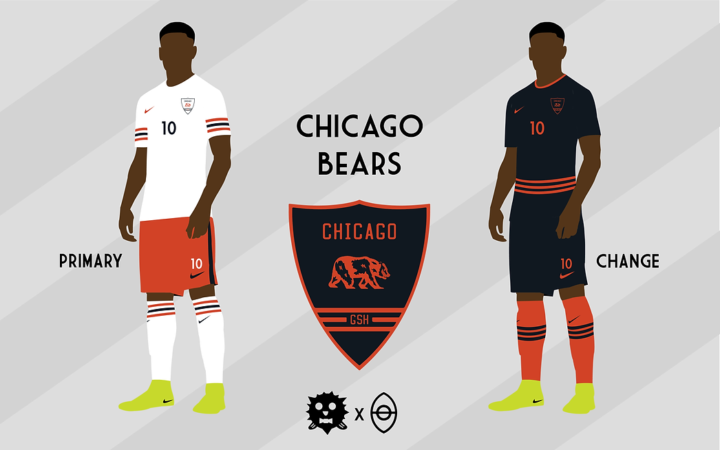 85dff80aa9ee9 An artist designed soccer kits for all 32 NFL teams and the final ...