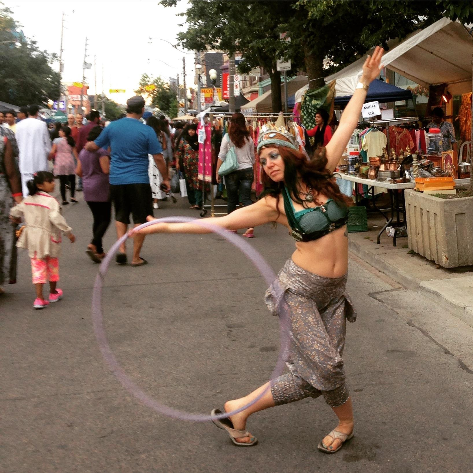Hooping at festival of south asia