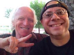 Con Miguel Cantilo
