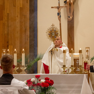 Father Ben Franchuk Leading Benediction