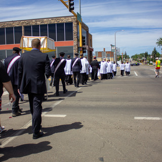 Procession Crossing Main Street
