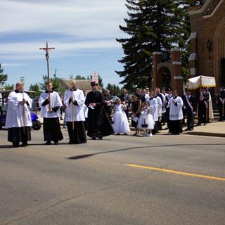 The Procession Leaving St. Joseph's