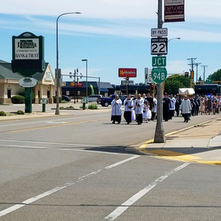 Procession Making Their Way Down 3rd Ave.