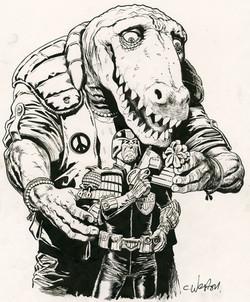 Dredd and Klegg Art
