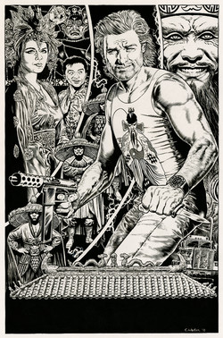 Big Trouble in Little China BW Art
