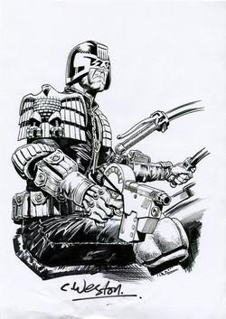Dredd Sketch Art