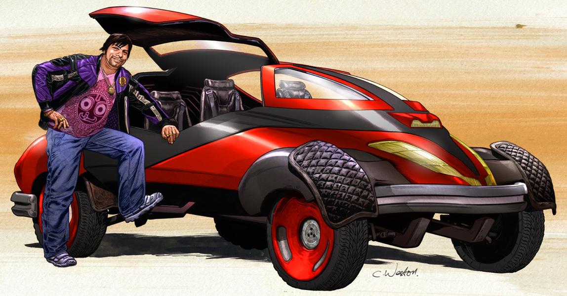 Jag Nandy and Car