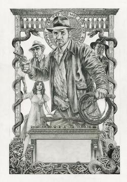 Indiana Jones Poster pencil art