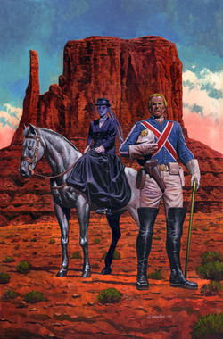 Bamber's Captain Britain Painting