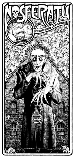 Nosferatu art bw