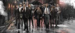 Nick's crew in the rain flat