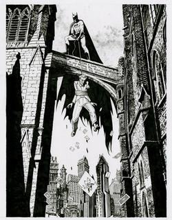 Batman wedding art