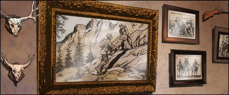 Jaeger Corridoor cutaway Ornate Painting