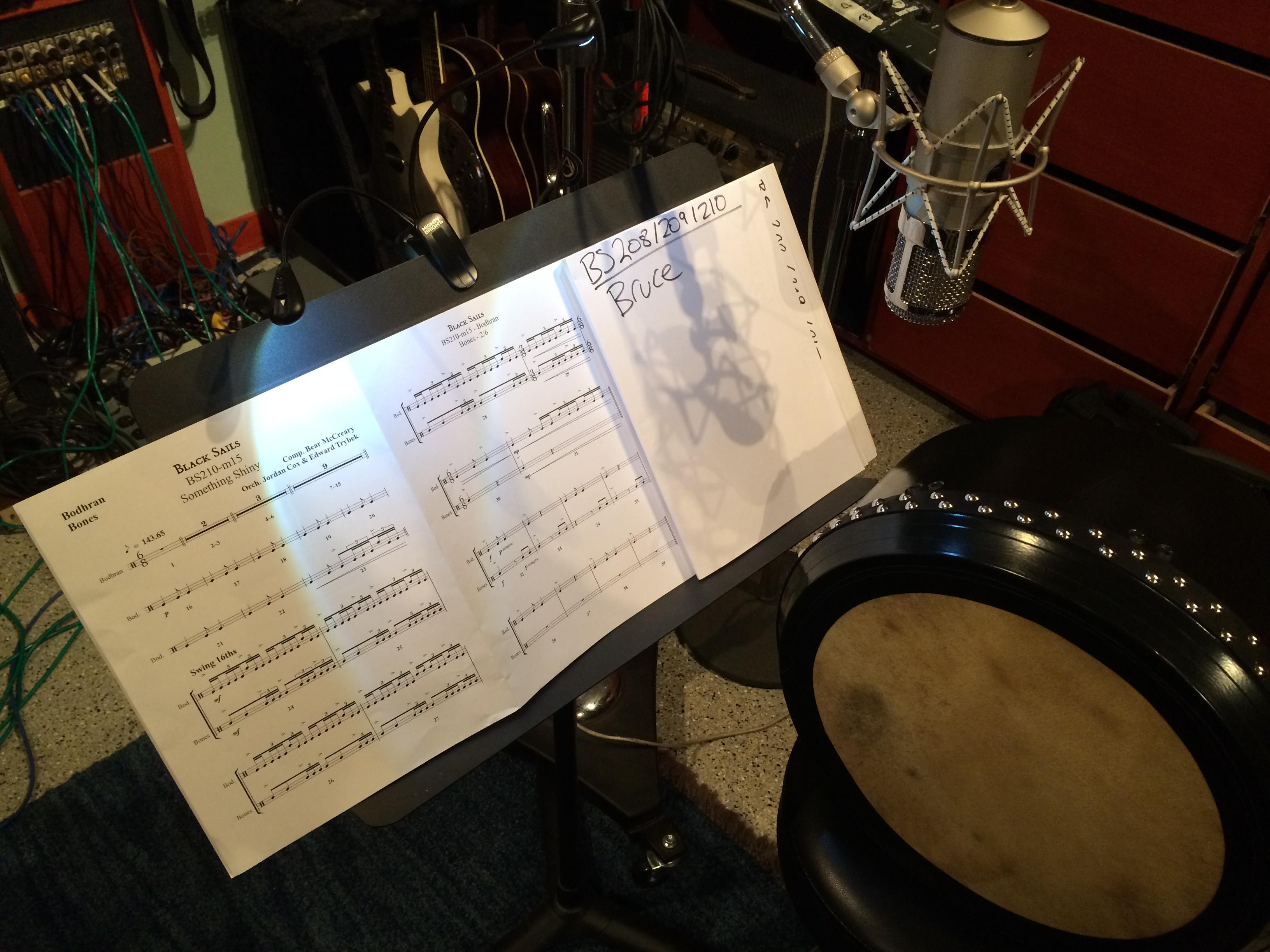 Bruce, Black Sails: Bock 507 Tube mic