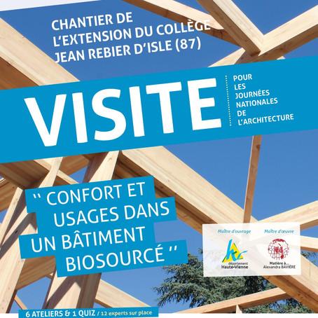Rencontre Construisons Bois - Visite de l'extension du collège Jean Rebier d'Isle (87)