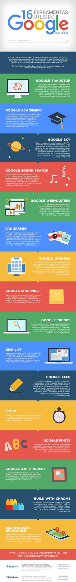 Conheça 16 ferramentas úteis do Google