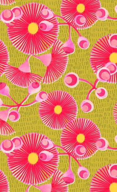 Gum Blossoms Into the Wild Repeat