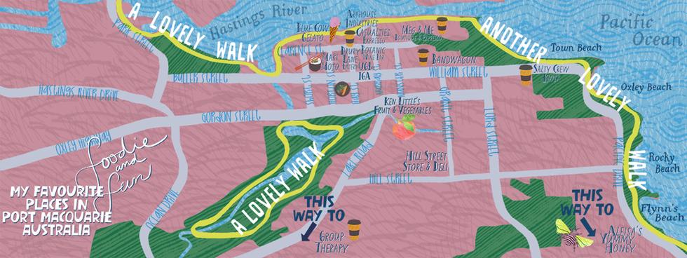 Favourite Spots PORT MACQUARIE Map