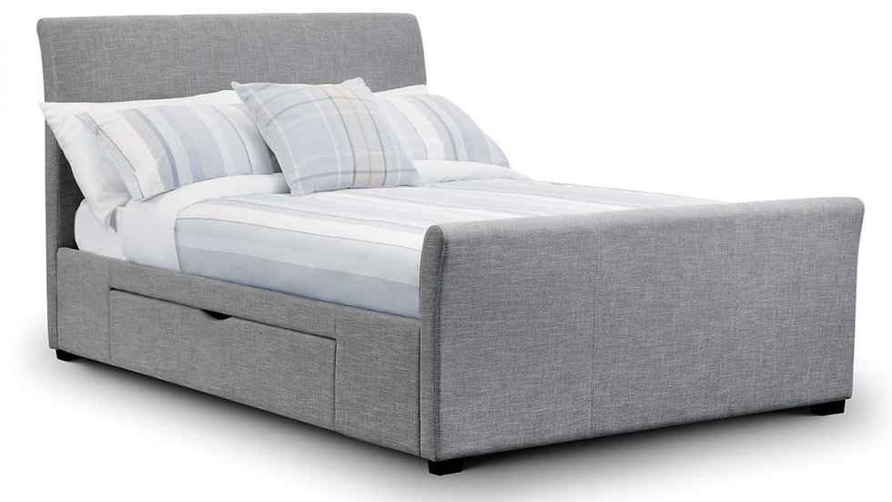 Capri Two Drawer Sleigh Bed Frame