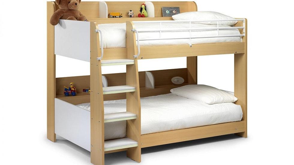 Domino Bunk Bed - Maple & White