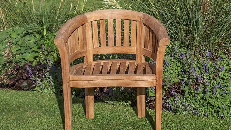 Teak Oxford Wave Chair