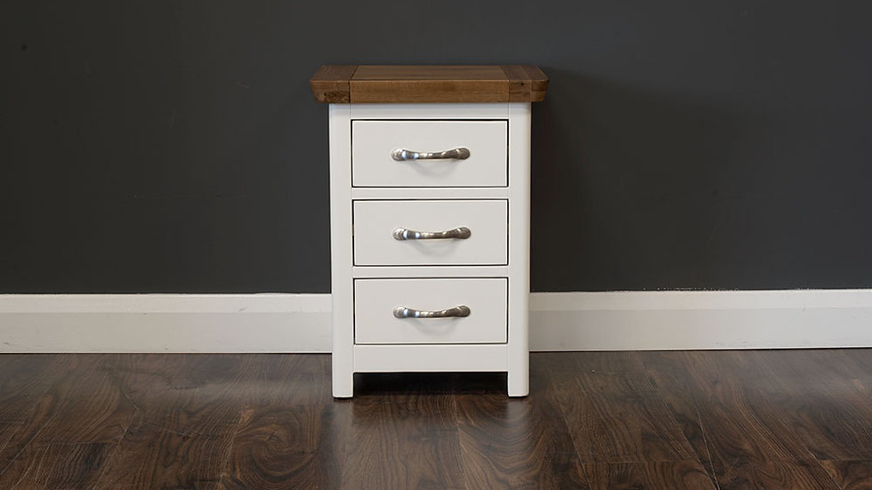 Manhattan Cream & Oak 3 Drawer Bedside