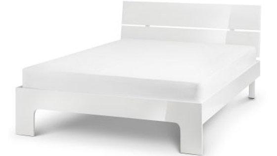 Manhattan White High Gloss Bed Frame