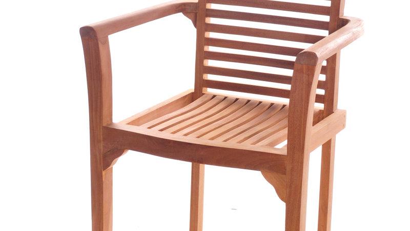 Teak Carver Stacking Chair