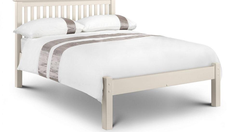 Barcelona Bed Frame - Stone White