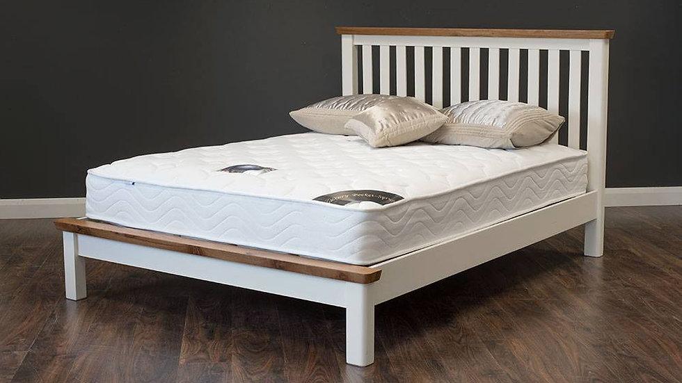 Manhattan Cream & Oak Bed Frame