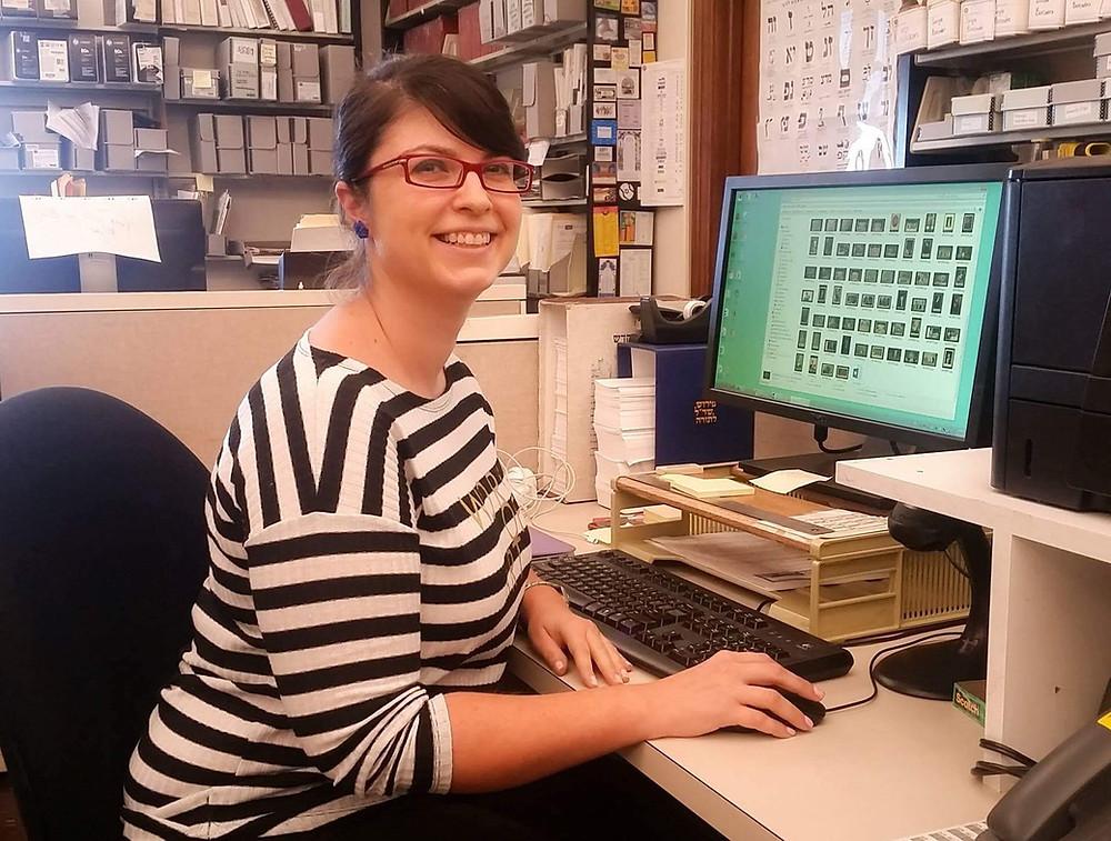 Alexandra Chiriac conducting research at the Harvard Library