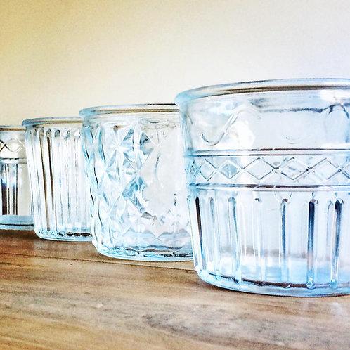Vintage Glass Flower Pots