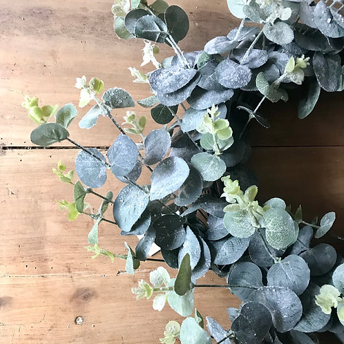 Frosted Eucalyptus Wreath