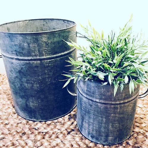 Zinc Planters (Set of 2)