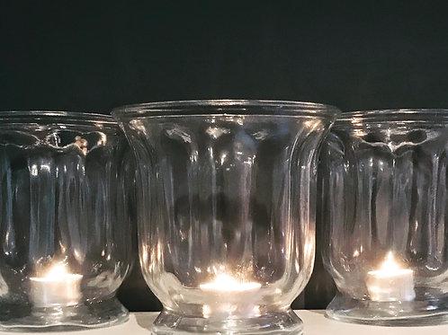 Fluted Hurricane Vase