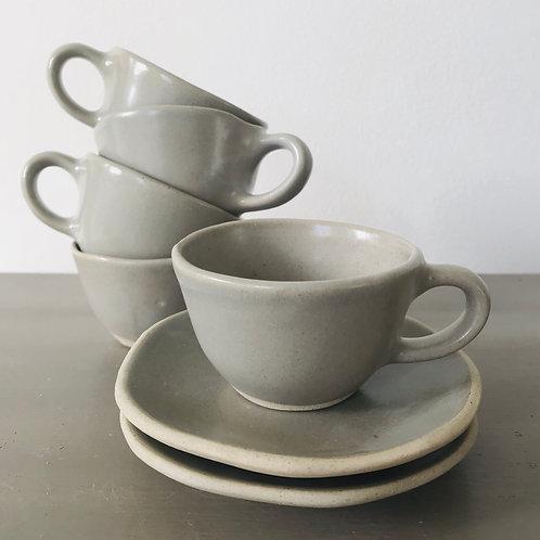 Mushroom Espresso Cup & Saucer