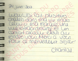 Témoignage client | Chalet le Malard