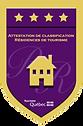 4 stars shield icon CITQ for tourist home designation