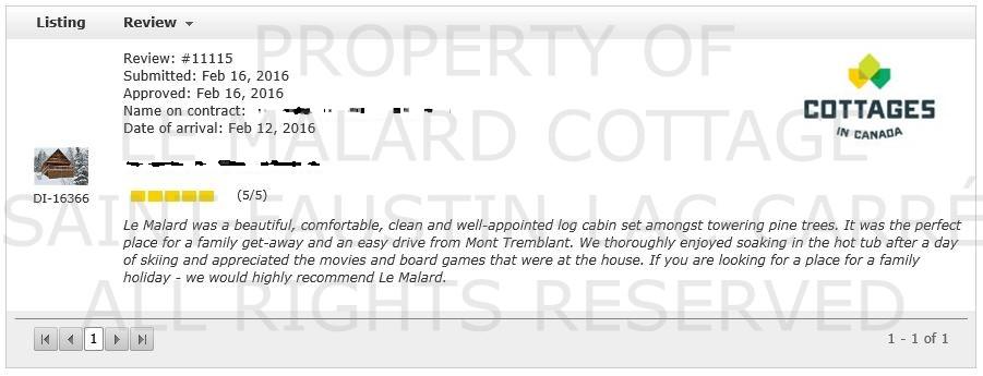 Testimonial | Le Malard Cottage