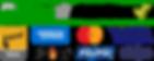 Logo Connection Sécurisée + cartes de crédit accptées + Paypal + Stripe
