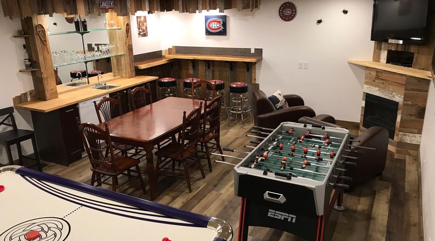 Salle de jeu | Chalet Lac-Sauvage
