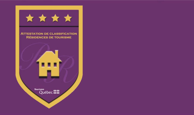 emblem crest classification attestation tourist home 4 stars CITQ | Gestion de Propriété Prestige