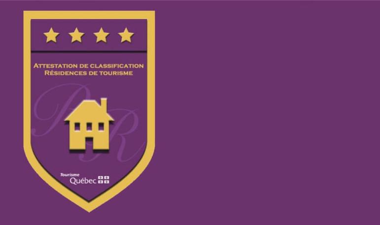 emblème écusson attestation de classification résidence de tourisme 4 étoiles de la CITQ | Gestion de Propriété Prestige