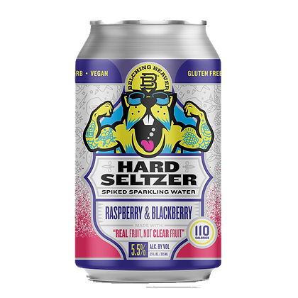 Belching Beaver - Hard Seltzer Raspberry and Blackberry