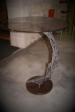 table pied fer à béton