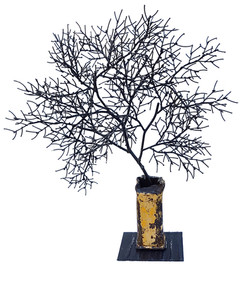 branche au vase jaune